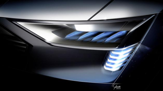 Einsatz der Matrix-Laser-OLED-Technologie im Audi e-tron quattro concept