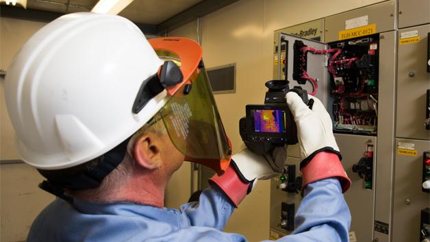 … die zum Beispiel zur Kontrolle elektrischer Anlagen eingesetzt werden kann.