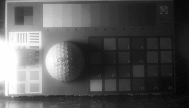Aufnahme mit einem Interline-Transfer-EMCCD-Bildsensor. Kontraste im Schattenbereich können sichtbar gemacht werden.