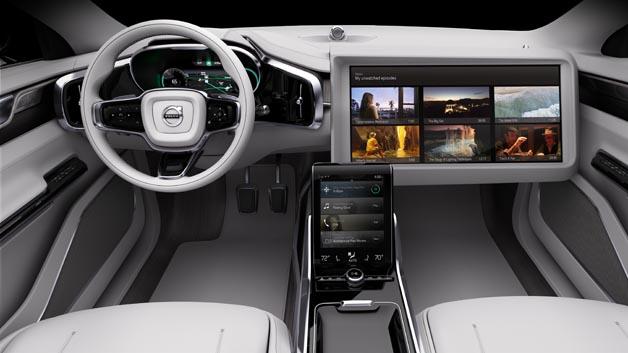 Volvo Concept 26: Innenraumkonzept für vollautomatisierte Fahrzeuge.
