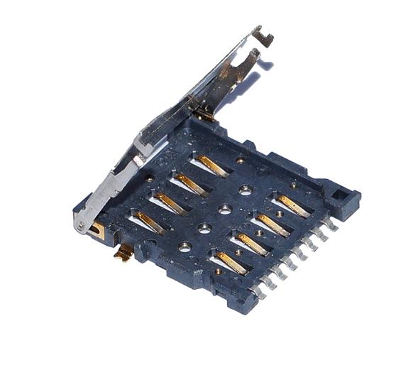 So einfach funktioniert das Einlegen: Micro-SIM-Karte von oben einlegen, Klappe schließen und verriegeln