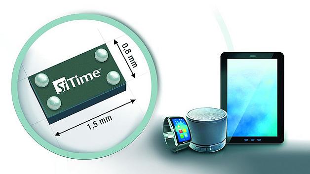 Kennziffer 000: MEMS-Oszillatoren: Leistungssparend und zuverlässig.Die neue µPower-MEMS-Oszillatorenserie von SiTime ist für den Wearable-, IoT- und Mobilmarkt geeignet. Der SiT8021 – als erstes Produkt der Familie – nimmt deutlich weniger Leistung auf, ist dabei kleiner und wiegt auch weniger als herkömmliche Quarz-Oszillatoren. Mit einer Stromaufnahme von 60 µA (f = 3,072 MHz, no load) ist der Baustein zudem um 90 % sparsamer als quarzbasierte Produkte. Das extrem kleine Gehäuse misst 1,5 × 0,8 mm² und bietet damit eine Größenersparnis um 40 %. Die Höhe von 0,55 mm ist um 45 % niedriger als bei Konkurrenzprodukten, und die Gewichtsersparnis macht sogar 70 % aus (Masse: 1,28 mg). Die lieferbare Ausgangsfrequenz liegt zwischen 1 und 26 MHz mit einer Genauigkeit von sechs Dezimalstellen. Mit seiner Betriebsspannung von 1,8 V eignet sich der SiT8021 für batteriebetriebene Anwendungen. Mit einem MTBF-Wert von 1140 Mio. Stunden (<1 FIT) bietet der Baustein einen 30-fachen Gewinn an Zuverlässigkeit. Um den Faktor 30 besser sind auch Stoß- und Vibrationsbeständigkeit