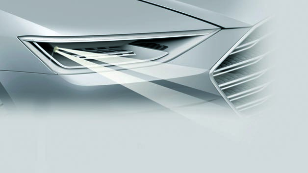 Kennziffer 109: Die Matrix-Laser-Technologie baut auf dem Laser-Spot für das Fernlicht auf, den Audi 2014 im R8 LMX in Serie gebracht hat. Die Technik arbeitet mit einem schnell beweglichen Mikrospiegel, der den Laserstrahl umlenkt. Bei geringen Geschwindigkeiten ist das Licht auf eine größere Fläche verteilt und die Fahrbahn breit ausgeleuchtet. Bei hohen Geschwindigkeiten ist der Öffnungswinkel kleiner und die Intensität sowie die Reichweite des Lichts deutlich erhöht. Neu ist das intelligente und schnelle Ein- und Ausschalten der Laserdioden in Abhängigkeit von der Spiegelposition. Dadurch wird die Ausleuchtung oder Abschattung dynamisch und hochvariabel.
