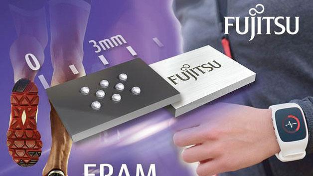 Nichtflüchtiger Speicher: FRAM-IC für IoT und Wearables . 77 % weniger Platz auf der Leiterplatte braucht der 1-Mbit-FRAM-Speicherbaustein MB85RS1MT von Fujitsu dank des neuen Wafer Level Chip Scale Package (WLCSP) im Vergleich zum bisherigen Gehäuse (Small Outline Package, SOP-8). Das Speicher-IC misst lediglich 3,09 × 2,28 mm2 und ist mit einer Dicke von 0,33 mm sogar 80 % flacher als die SOP-8-Version. Damit bietet Fujitsu nichtflüchtige Speicher, die sich aufgrund ihres geringen Energiebedarfs, der kurzen Schreibzeit und der hohen Anzahl von Schreib-/Lesezyklen – Fujitsu gibt 1013 Schreib-/Lesezyklen an – sehr gut für energieautarke oder batteriebetriebene Funksensorknoten und Wearables eignen, in einem besonders kleinen Gehäuse an.