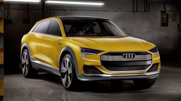 Die Technikstudie Audi h-tron quattro concept zeigt das große Potenzial der Brennstoffzellentechnologie.