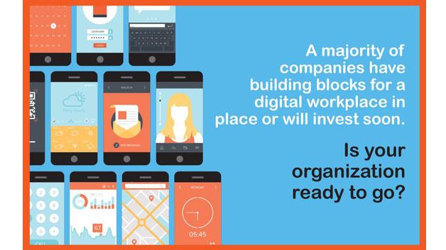Die meisten Unternehmen verfügen bereits über die Bausteine für einen digitalen Arbeitsplatz oder werden in Kürze in solche investieren.