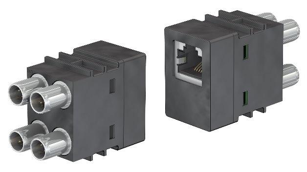 In der Fabrikautomation steigen die Datenraten, nicht zuletzt durch Themen wie Industrie 4.0. Das heißt, auch 10-GBit-Ethernet zieht in die Fertigung ein. Multi-Contact erweitert sein modulares Steckverbinder-System »CombiTac«  um ein 10-GBit-Modul für die Ethernet-Kommunikation. Es  erfüllt die Anforderungen einer CAT.6A-Übertragung und ist für 100.000 Steckzyklen ausgelegt.