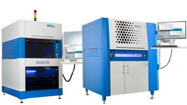 Göpel präsentiert in Halle 7A, an Stand 111 unter anderem das VarioLine, ein kompaktes AOI-System, das ein 4fach-Schrägblickmodul mit 360°-Inspektion sowie Multispektralbeleuchtung beeinhaltet. Optional kann es mit dem Messmodul 3D-EyeZ ausgestattet werden. Für den Anwender ergibt sich damit eine Steigerung der Prüfgeschwindigkeit bei gleichzeitiger Kostenoptimierung des Gesamtsystems. Automatische Inspektion von THT-Komponenten mit Bauteilfreiheit bis 130 mm wird möglich mit dem THT-Line. Das System kann flexibel in den individuellen Fertigungsprozess integriert werden und leistet durch zahlreiche Konfigurationsmöglichkeiten auch für spezielle Anwendungen zuverlässige Inspektion.