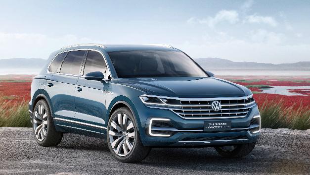 Mit der Studie T-Prime Concept gibt VW einen Ausblick auf die nächste SUV-Oberklasse-Generation mit Hybridantrieb.
