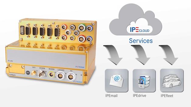 Auch IPETRONIK präsentiert auf der Sensor+Test in Halle 1, Stand 263 unter anderem den Datenlogger M-LOG V3, der nun mit dem neuen Hardware-Modul COMgate V3 als Erweiterung zur kabellosen Datenübermittlung angeboten wird. Das COMgate V3 ermöglicht eine schnelle, sichere und komfortable Datenfernübertragung mit LTE-Geschwindigkeiten. Die Modem-Schnittstelle unterstützt den WLAN-Netze mit Datenraten von bis zu 150 Mbit/s. Durch die zweite Gigabit-Ethernet-Schnittstelle am COMgate V3 hat der Anwender nun die Möglichkeit, das Gesamtsystem aus Datenlogger und COMgate komfortabel über die Software IPEmotion zu konfigurieren. Aufbauend auf der Ferndatenübertragung, die von sämtlichen IPETRONIK Datenloggern unterstützt wird, erweitert die IPEcloud die weltweite Überwachung von Datenlogger-Flotten während der Felderprobung. Das IPEcloud-Paket besteht aus den drei Grundbausteinen IPEfleet, IPEdrive und IPEmail. Mit IPEfleet kann der Anwender über eine frei konfigurierbare Oberfläche festlegen, welche Parameter in den eingefahrenen Messdaten überwacht werden sollen, um deren Status mittels einer Ampeldarstellung (rot/gelb/grün) einzusehen. Die übertragenden Systemdateien können automatisiert ausgewertet und als PDF-Report aufbereitet werden. Mit IPEdrive erfolgt die Verwaltung und Bearbeitung der vom Logger erfassten und übermittelnden Messdaten, während sich mit IPEmail E-Mail-Adressen verwalten lassen, um verschiedene Anwender gezielt über Systemfehler oder Abweichungen in den Messdaten zu informieren.