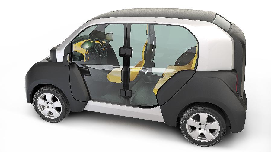 3,3 m lang, Platz für drei Personen oder Fahrer plus Europalette, maximal 90 km/h schnell, 120 km Reichweite mit einer Akkuladung.