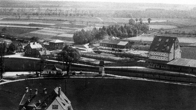 Herzogenaurach in den 1940er Jahren. Hier befindet sich später das Schaeffler-Werksgelände.