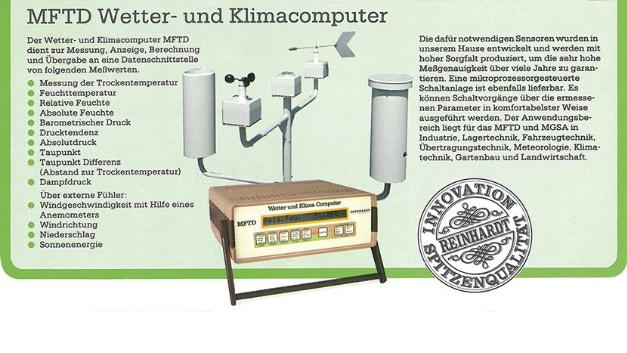 … die MFTD, kam 1984 auf den Markt. Heute produziert Reinhardt…