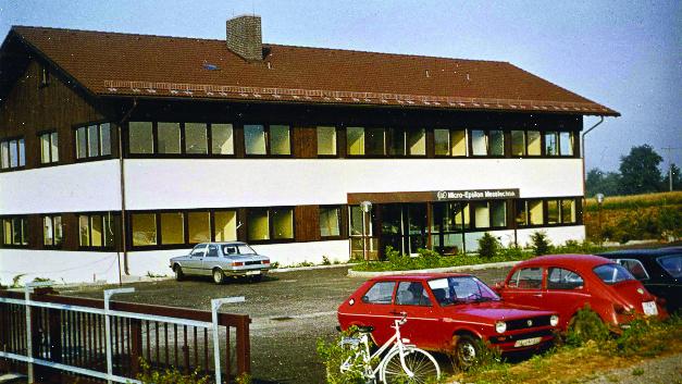 1979: Das erste eigene Betriebsgebäude in Ortenburg - Dorfbach.