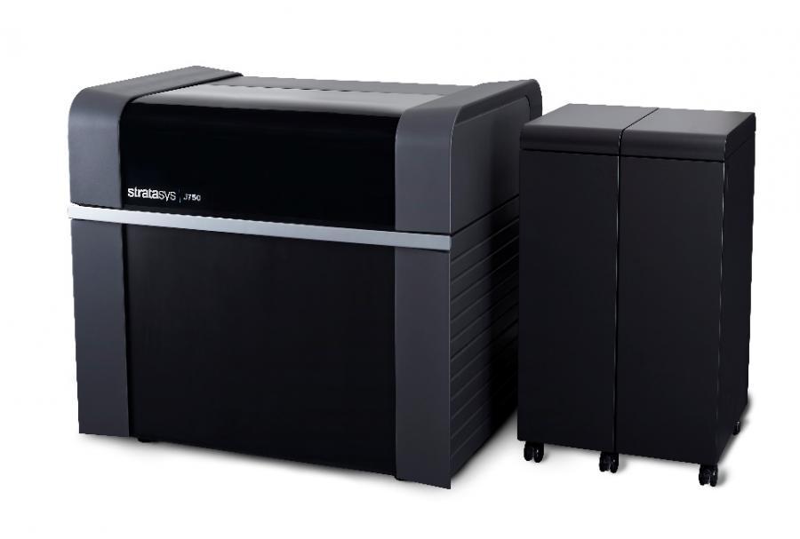 Der Stratasys J750 ist laut Stratasys der weltweit einzige 3D-Drucker, der farbechte Multimaterial-Produkte erstellt.