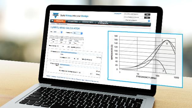 vishay intertechnology online tool berechnet impedanz von. Black Bedroom Furniture Sets. Home Design Ideas