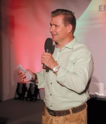 Der kreative Kopf der Aktion: Bernd Schlemmer, Vice President Communications von EBV, rief vor drei Jahren den Wolpertinger Award ins Leben.