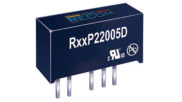 Bild 3. Speziell zur Versorgung der Treiber von SiC-MOSFETs hat Recom Power die DC/DC-Wandler der Reihen RKZxx2005D und RxxP22005D mit asymmetrischen Ausgangsspannungen +20 V und –5 V entwickelt.