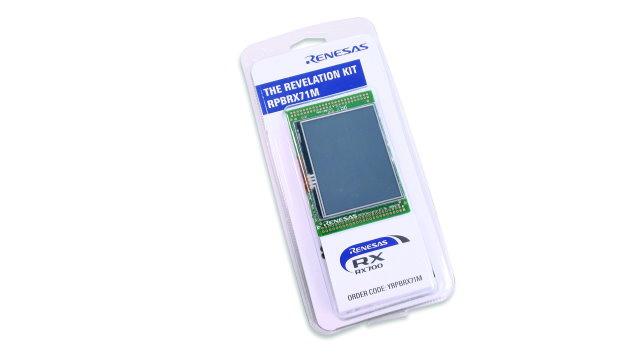 Das Revelation Kit von Renesas ist eine Entwicklungsplattform zur schnellen Implementierung einfacher HMIs mit TFT-Display. Es enthält einen RX71M-Mikrocontroller und ein Display mit Viertel-VGA-Auflösung (320 x 240). Die CPU-Auslastung für die Anzeige eines Bildes beträgt beim RX71M nur ca. 5 Prozent. Damit bleiben für andere Anwendungsfunktionen wie Konnektivität genügend Ressourcen frei. Manche Renesas-Mitarbeiter auf dem electronica-Stand tragen die Displays als Namensschild.