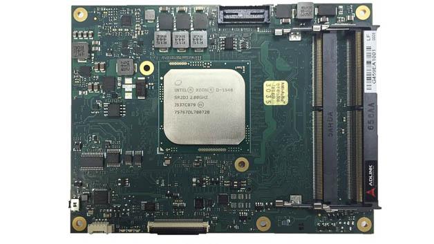 Das COM-Modul Express-BD7 von Adlink richtet sich an Nutzer mit Anwendungen in den Bereichen industrielle Automatisierung und Datenkommunikation. Im Gegensatz zum Typ 6-Pinout verzichtet das neue Typ-7-Pinout auf die Grafik-Unterstützung und ersetzt sie durch bis zu vier 10GbE-Ports und zusätzlich acht PCIe-Ports. Es wurde eigens dafür ausgelegt, die Funktionen von Intels Low-Power-Xeon-Chips mit einer thermischen Leistung von bis zu 65Watt optimal zu unterstützen. Das Modul ist optional im Extreme-Rugged-Betriebstemperaturbereich von –40 bis +85°C erhältlich. Es unterstützt Adlinks SEMA- (Smart Embedded Management Agent) Cloud-Funktionalität, die eine Fernadministrierung und -steuerung verteilter Geräte ermöglicht.