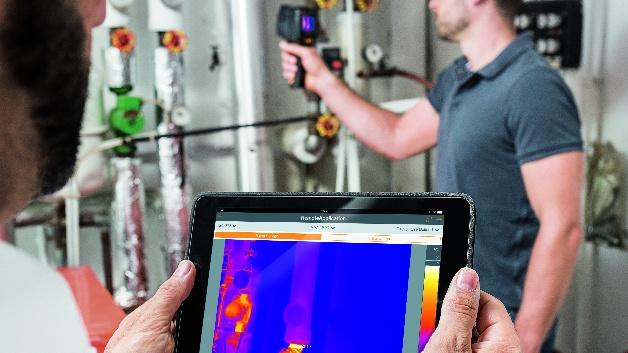 Smartes Thermografieren: Mit der neuen Thermography App wird das Smartphone oder Tablet des Benutzers zum zweiten Display und zur Fernbedienung der Kamera.