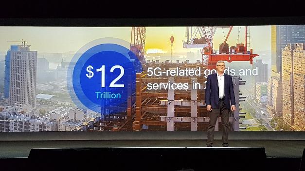 Steve Mollenkopf, CEO von Qualcomm, beziffert den globalen wirtschaftlichen Effekt bis 2035 auf 12 Billionen Dollar und 22 Mio. Jobs.