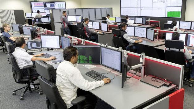 Der Produktionsleitstand im Audi-Werk in San José Chiapa vereint erstmals fünf Leitstände.