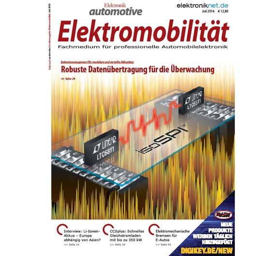Platz 13: Das Titelbild des Sonderheftes Elektromobilität im Juli.
