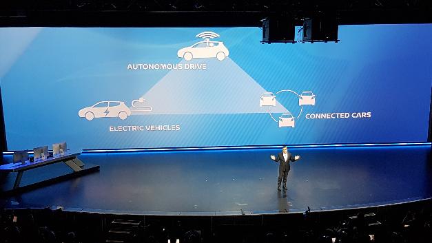 Carlos Ghosn, CEO von Nissan und Renault: »Das destruktive Dreieck des autonomen Fahrens, der Elektromobilität und des vernetzten Fahrzeugs.«