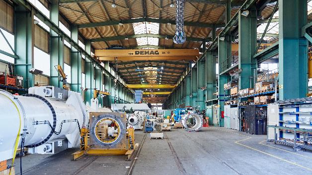 Alle Herrenknecht-Maschinen werden im Werk im badischen Schwanau gefertigt.
