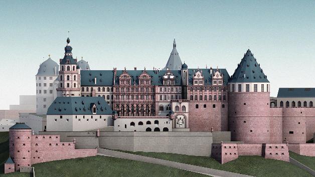 Was für eine prächtige Residenz: So sah das Heidelberger Schlosses wohl um 1683 aus.
