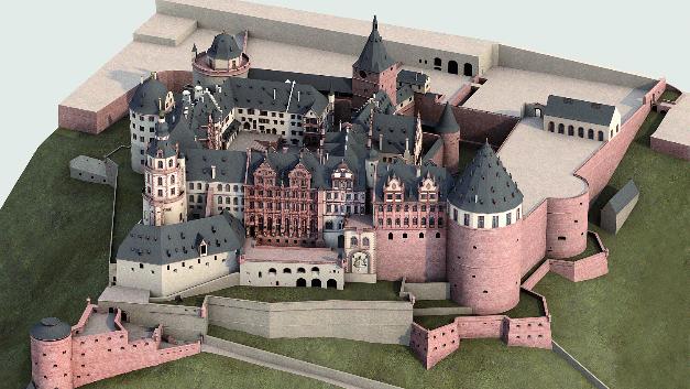 Der gewaltige Schlosskomplex nimmt 3 Gb Speicherplatz ein.