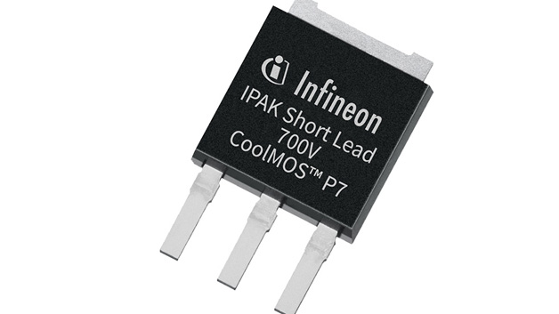Infineon präsentiert die 700-V-MOSFET-Familie CoolMOS P7, die sowohl bestehende als auch künftige quasiresonante Flyback-Topologien adressiert. Nach Angaben von Infineon lassen sich mit den neuen MOSFETs im Vergleich zu Wettbewerbsprodukte die Schaltverluste um 27 bis 50 % senken. Dies führt in flyback-basierten Ladegeräten zu einer Effizienzsteigerung um bis zu 3,9 %, während die Temperatur des Bauteils um bis zu 16 K geringer ist.