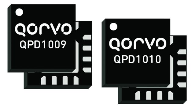 Über Richardson RFPD sind zwei neue GaN-auf-SiC-HF-Transistoren von Qorvo erhältlich. Die diskreten GaN-auf-SiC-HEMTs arbeiten bei Frequenzen von DC bis 4 GHz. Der 15-W-/50-V-Transistor QPD1009 erreicht eine lineare Verstärkung von 24 dB bei 2 GHz, die 10-W-/50-V-Ausführung QPD1010 erzielt 24,7 dB bei 2 GHz.
