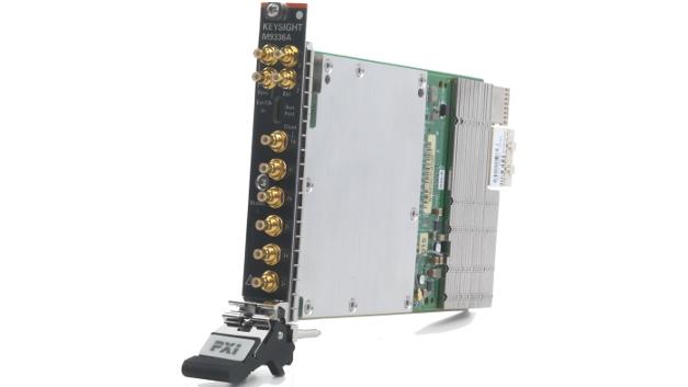 Der PXIe-AWG M9336A benötigt nur  einen einzigen PXIe-Steckplatz, bietet eine Amplitudenauflösung von 16 bit und eine Modulationsbandbreite von bis zu 1 GHz.