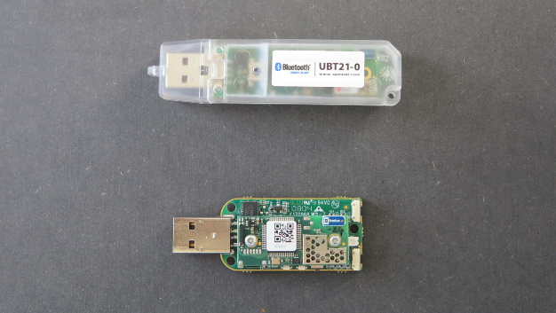 Prototypen des SE Skipper SE UBT21-1 Bluetooth-4.0-USB-Sticks.