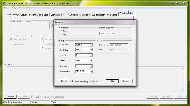 Der Bluetooth-Stick wird über einen virtuellen COM-Port in die Konfigurationssoftware integriert.