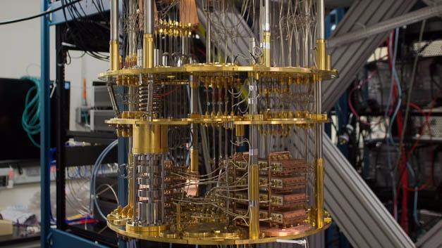 Innenleben des IBM-Quantencomputers.