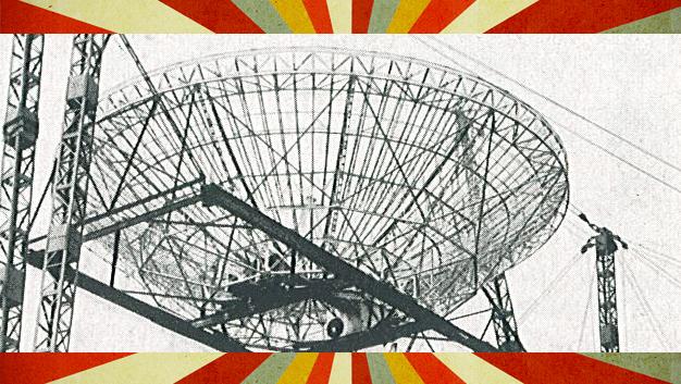 Die schwenkbare Parabolspiegelantenne hatte einen Durchmesser von 25 m.