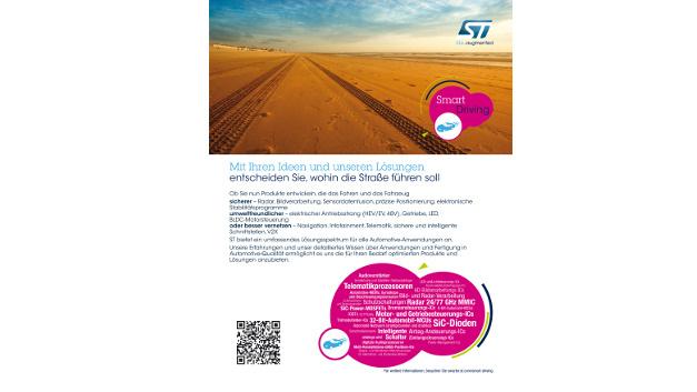 Mit dieser Anzeige gewann STMicroelectronics sowohl den dritten Platz in der Kategorie »beste Grafik« als auch den zweiten Platz für den »besten Slogan«