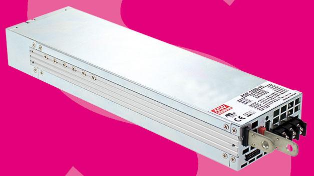 Im Fokus des Stromversorgungsaangebots stehen für Schukat auf der PCIM die Netzteile der RSP-1600 Serie von Mean Well mit hoher Leistungsdichte.