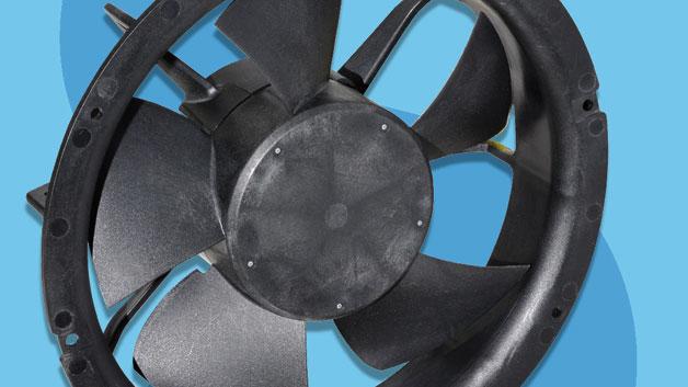 Die Lüfter-Serie EC von Sunon hilft beim Energie sparen. Laut Hersteller sind Energieeinsparungen von bis zu 80 % gegenüber konventionellen AC-Lüftern möglich. Zu sehen sind die Lüfter auf Schukats Messestand.