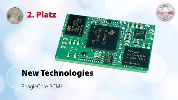 Das BeagleCore BCM1 ist ein Modul auf Basis der BeagleBone Black Hardware von Texas Instruments. Für Entwicklungszwecke gibt es ein Starter Kit, ansonsten entwickeln sich die Kunden das Träger-Board selbst oder geben es in Auftrag. Das Modul wird einfach aufgelötet und ist maschinenbestückbar.