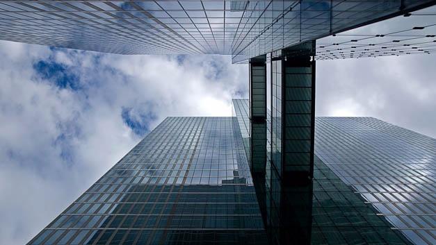 Die Watson IoT Zentrale belegt nicht die gesamten »Highlight Towers« in München. IBM hat einige Stockwerke angemietet.