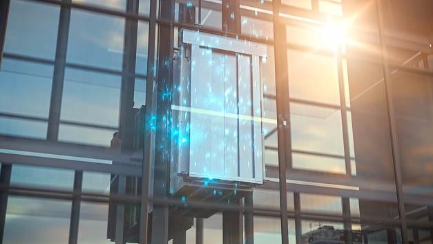Einer der Microsoft-Partner auf dem Hannover-Messestand ist Thyssenkrupp Elevators.
