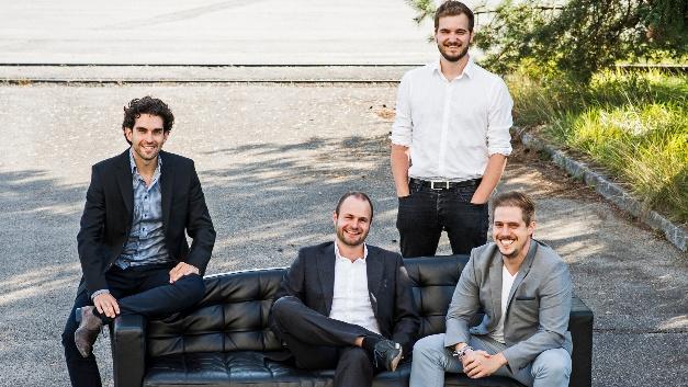 Die Gründer von Lilium (v.l.n.r.): Daniel Wiegand, Sebastian Born, Mathias Meiner und Patrick Nathen. Die vier gründeten das Unternehmen im Jahr 2015.