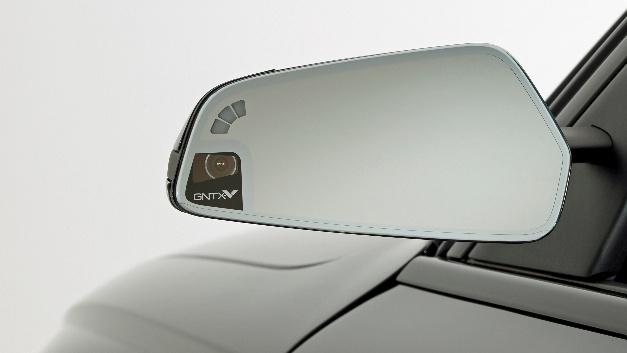 Kamera im Gehäuse des Außenspiegels.