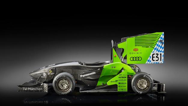 Rennfahrzeug mit Elektroantrieb für die Saison 2017.