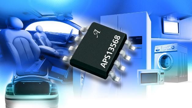 Allegro zeigte auf der PCIM unter anderem den neuen Positionssensor APS13568. Der IC wird als magnetisch betätigter Lichtschalter eingesetzt, indem er einen empfindlichen, omnipolaren Mikrostrom-Hall-Effekt-Sensorschalter mit einem linearen programmierbaren Stromregler kombiniert, der bis zu 150 mA Strom zur Ansteuerung von High-Brightness-LEDs bereitstellt. Der omnipolare Hall-Effekt-Schalter sorgt für eine kontaktlose Steuerung des geregelten LED-Stroms, der durch einen einzelnen Referenzwiderstand eingestellt wird. Im Vergleich zu einer diskreten Lösung sorgt der hochintegrierte Baustein für hohe Zuverlässigkeit und ein einfaches Design.