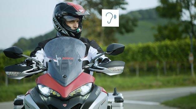 Digitales Schutzschild für Motorräder